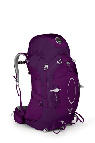 Osprey Aura 65 Backpack (Eggplant Purple, Small), Outdoor Stuffs