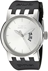 Invicta Men's 10407 DNA Urban Silver Sunray Dial Black Silicone Watch