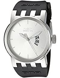Men's 10407 DNA Urban Silver Sunray Dial Black Silicone Watch