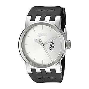 Invicta Men's DNA Urban Silver Sunray Dial Black Silicone Watch