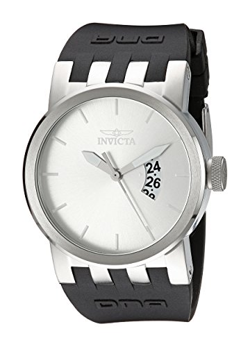 Invicta Men's DNA Urban Silver Sunray Dial Black Silicone Watch