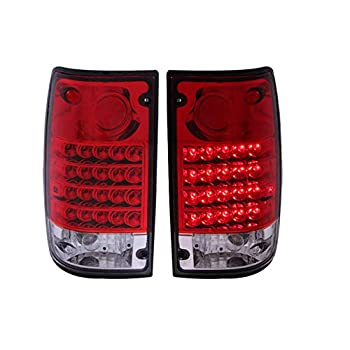 Image of Anzo USA 311043 Toyota Pickup Red/Clear LED Tail Light Assembly - (Sold in Pairs) Tail Light Assemblies