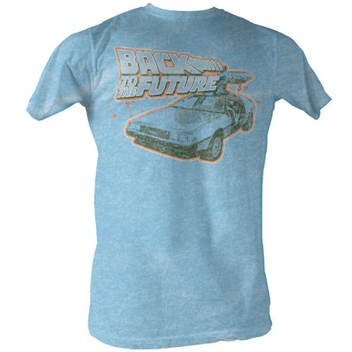 Back To The Future Men's Blue N' Orange T-Shirt - N Orange Blue