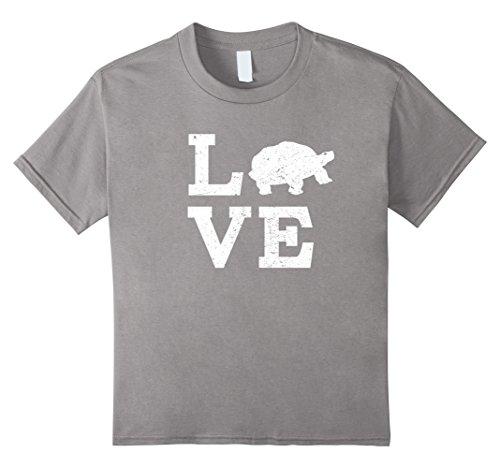 unisex-child I Love Turtles Tortoises T-Shirt Funny 4 Slate Tortoise Slate