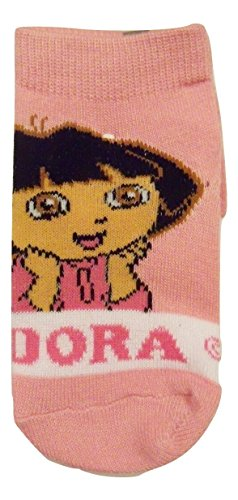 Dora the Explorer Sock ~ 6-12 Months; Resting Chin on Hands