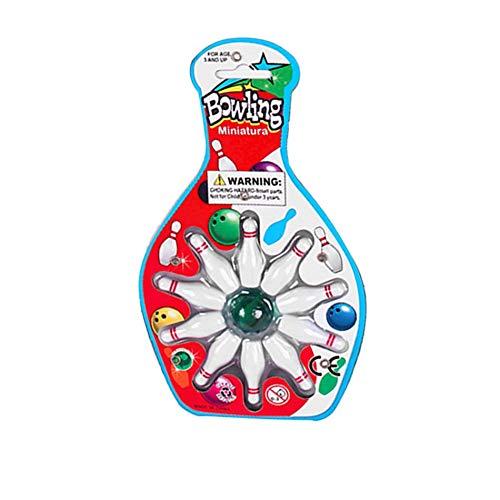 Libertroy Mini Gioco da Tavolo Top da Bowling Set per Bambini novità Toy -10 Bowling 1 Marble Pinball Bowling Desk Game Entertainment
