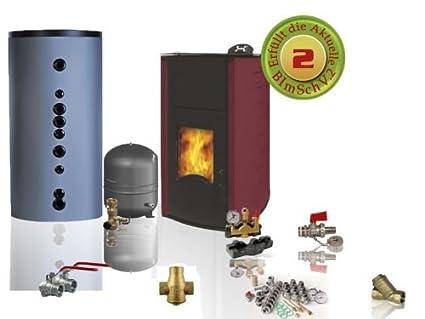 Estufa de pellets y acuífero BURNiT PM Comfort 25 Plus 11 - 25 kW