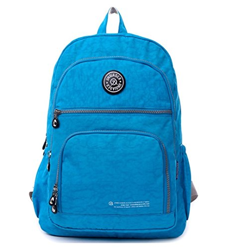 Fashion Backpack for Women,Travel Daypack Nylon School Bag Bookbag Hiking Daypack (Sky Blue) by Big Mango