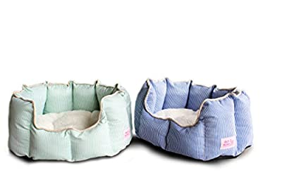 Good Life Solutions Premium Quality Luxury Pet Beds. Small and Toy Breed Dog and Cat beds, Waterproof Bottom, Washable, Removable Therapeutic Fleece Cushion Stylish Look for animals up to 10 pounds.