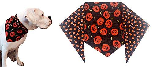 Happy Jacks and Candy Corn Halloween Dog Bandana (XL) Ties on 22