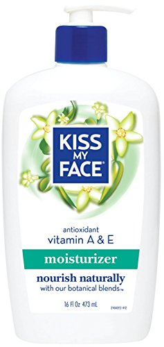 Kiss My Face Essential Oils Body Lotion - Natural Body Moisturizer with Vitamins A & E-16,oz.