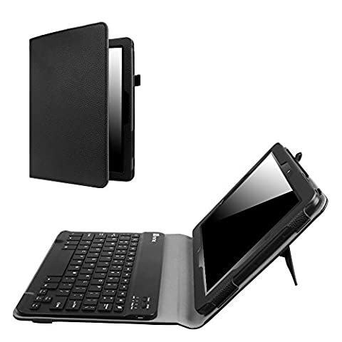 Insignia 10.1 Inch Tablet NS-P10A7100 Keyboard Case, Fintie Slim Fit Folio PU Leather Cover with Removable Wireless Bluetooth Keyboard for Insignia Flex NS-P10A7100 10.1-Inch Android Tablet, (Insignia 7 Tablet Case)