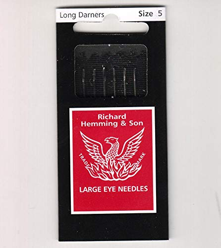 Richard Hemming Needles - Long Darners Size 5 - Made in England ()