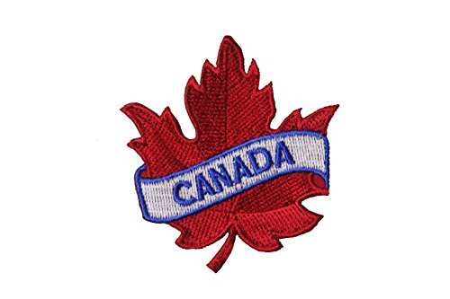 CANADA Red Maple Leaf Embroidered Iron on Patch Crest Badge ...Size :2.5 X 2.5 Inch ... New