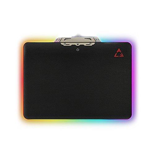 konky iluminación LED Alfombrilla de mouse Gaming Mousepad, RGB colorida duro ratones Mat antideslizante impermeable Control...