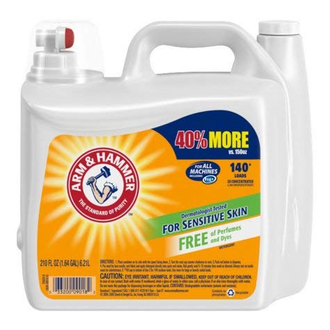 Product of Arm & Hammer 2X Concentrated Liquid Laundry Detergent for Sensitive Skin (210 oz.) - Laundry Detergents [Bulk Savings]