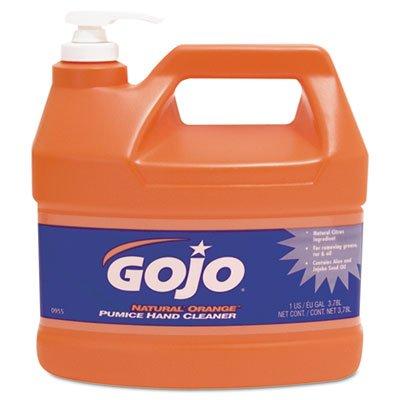 Gojo Orange Smooth Hand Cleaner - GOJO Industries 315-0955-04 NATURAL ORANGE Smooth Pumice Hand Cleaner, 1 gal with Pump Dispenser (Pack of 4)