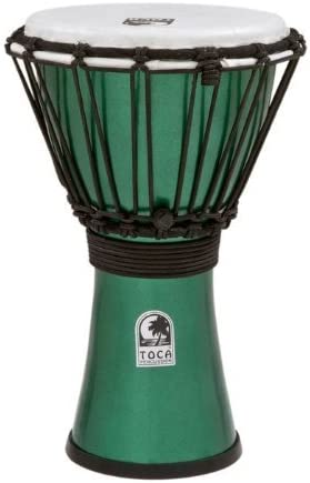 "TOCA Percussion トカ ジャンベFreestyle II Djembe 7"" - Metallic Green/【国内正規品】"