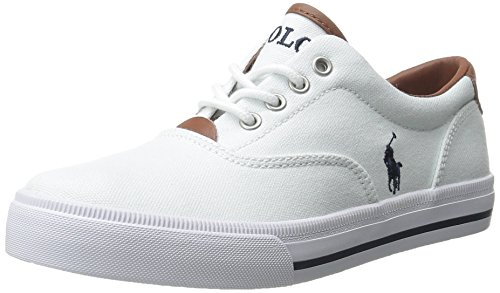 (Polo Ralph Lauren Kids Vaughn Ii Sneaker, White/Navy, 6 M US Big Kid)