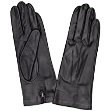 Dents Ladies Leather Glove Lined Silk 7.5 Navy