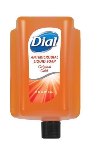 Dial 98561 Antimicrobial Liquid Soap 15 oz Refill Cartridge Refreshing Clean 6/Ctn ()