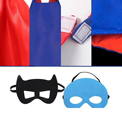 RioRand Kids Dress Up 5PCS Superhero Capes Set and Slap Bracelets for Boys Costumes Birthday Party Gifts