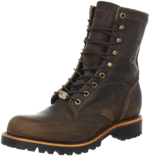 "Chippewa Men's 8"" Apache Leather Boot - Chocolate - 8 2E US"
