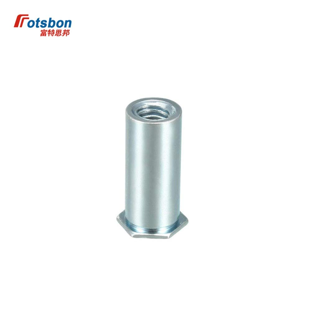 Nuts 1000pcs BSO-M4-6/8/10/12/14/16/18/20/22/25 Blind Threaded Standoffs Carbon Steel PEM Standard Standoffs Factory Wholesales - (Size: BSO-M4-8)