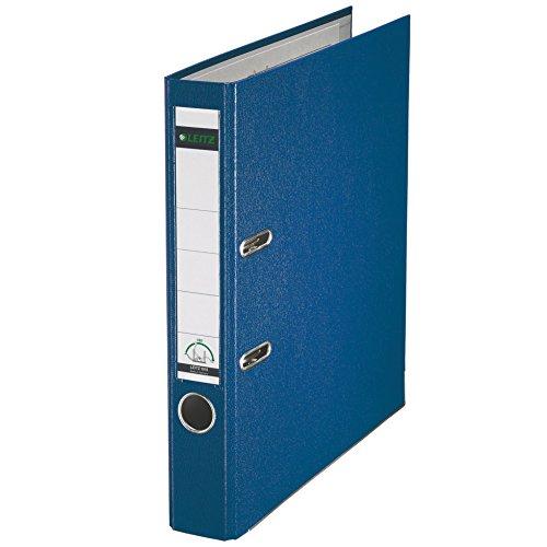 Leitz 2-Ring 2-Inch Premium Linen Textured A4 Sized European Binder, Blue (1015-BL)
