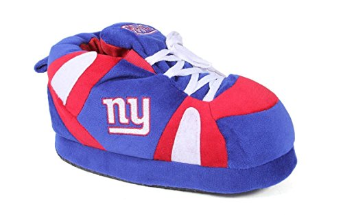 Comfy Feet NYG01-3 - New York Giants - Large - Happy Feet NFL Slippers by Comfy Feet