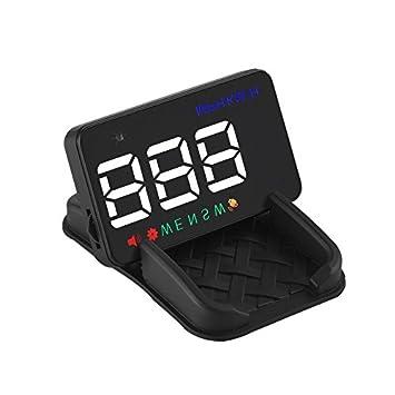 HONGLIPantalla de visualización de la Velocidad del satélite de GPS del Coche de la Pantalla Principal de HUD Tiempo del proyector de HD: Amazon.es: Coche y ...