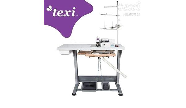 TEXI tre 04 T Premium Ex - Máquina de Coser (3 Hilos, Motor Servo ...