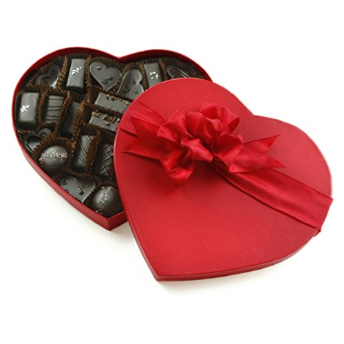 Amore di Mona Gluten-Free, Vegan, Organic, Milk Free, Nut Free, GMO-Free Assorted Chocolates 33 Piece Valentine's Day Gift Heart