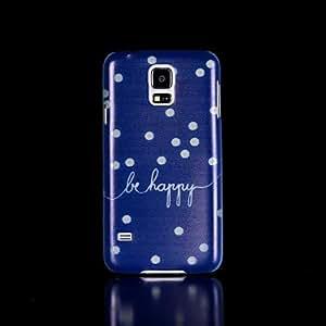 WQQ Teléfono Móvil Samsung - Cobertor Posterior - Gráfico/Diseño Especial/Resplandor en la Oscuridad - para Samsung S5 i9600 Plástico )