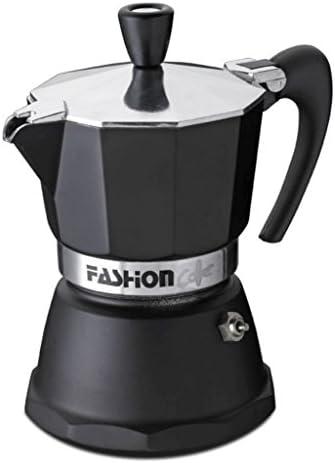 GAT Italy - Cafetera Italiana Fashion de 6 Tazas, Aluminio, Color Negro, 10 x 20 x 17 cm: Amazon.es: Hogar