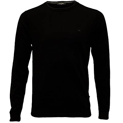 Calvin Klein Saul Crew-Neck Ribbed Knit Men's Sweater, Black