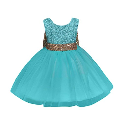 Feitong Flower Girl Princess Sequins Dress Toddler Baby Girls Wedding Fancy Party Tutu ()