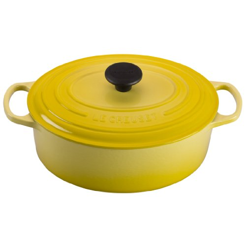 Le Creuset Signature Enameled Cast-Iron 3-1/2-Quart Oval (Dutch) French Oven, Soleil