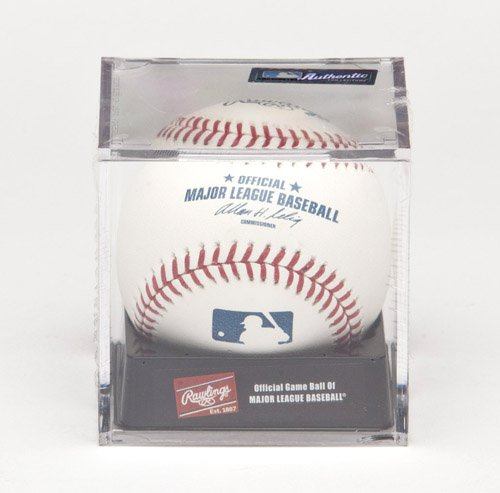 Rawlings Official MLB Baseball and Display Cube ROMLB-R 1 Baseball