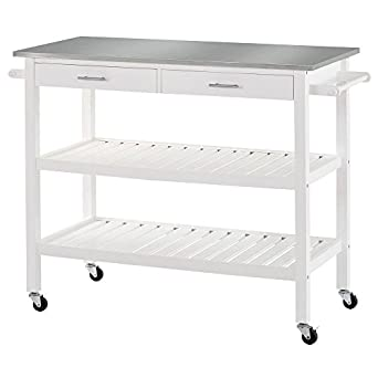 Sandusky Lee MKT472036 Stainless Steel Top Kitchen Cart, 47u0026quot; Length X  20u0026quot; ...
