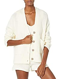 Women's Brigitte Chunky Button Front Pocket Ribbed Cardigan