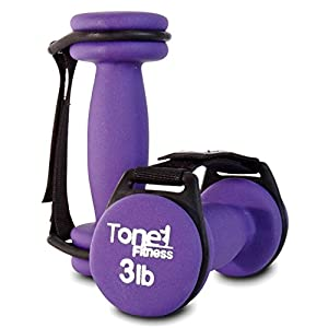 Tone Fitness Walking Dumbbells with Handles, Pair
