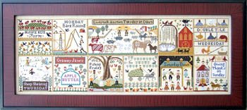 (Farms Of Hawk Run Hollow Cross Stitch Chart and Free Embellishment)