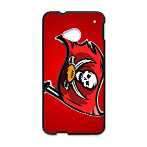 HGKDL tampa bay buccaneers logo Hot sale Phone Case for HTC ONE M7 Black