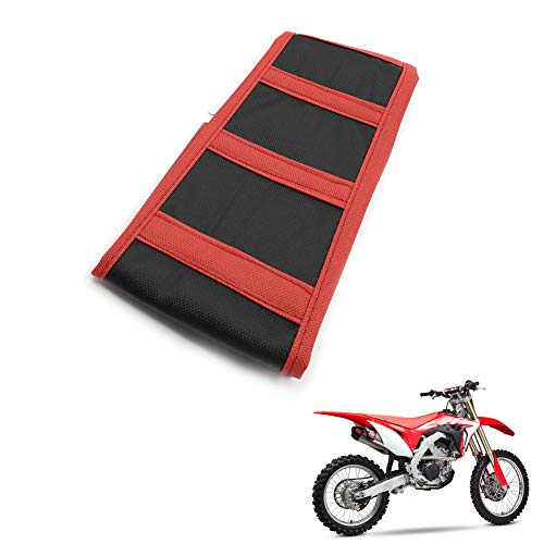 (Motoparty Motorcycle Universal Dirt Bike Soft Seat Cover For Honda CR85 CR125 CR250 CR 85 125 250 - Red(black))