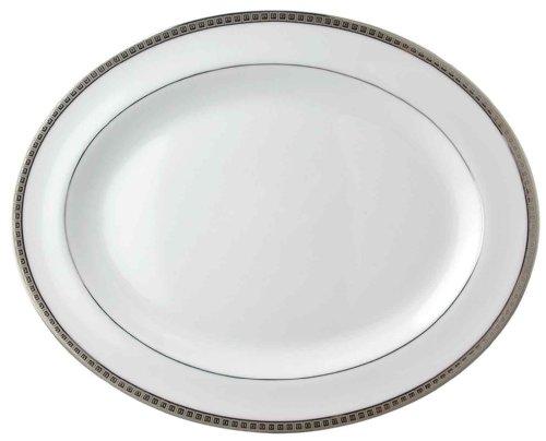 Bernardaud Platter - Bernardaud Athena Platinum Oval Platter Large 15