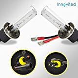 Innovited HID Xenon H1 8000K Replacement Bulbs (1 Pair Ice Blue) - 2 Year Warranty