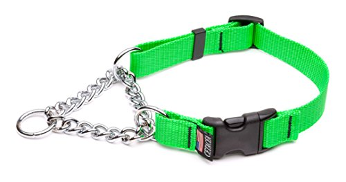 Cetacea Extra Large Adjustable Martingale Chain, 1″, Florescent Green For Sale