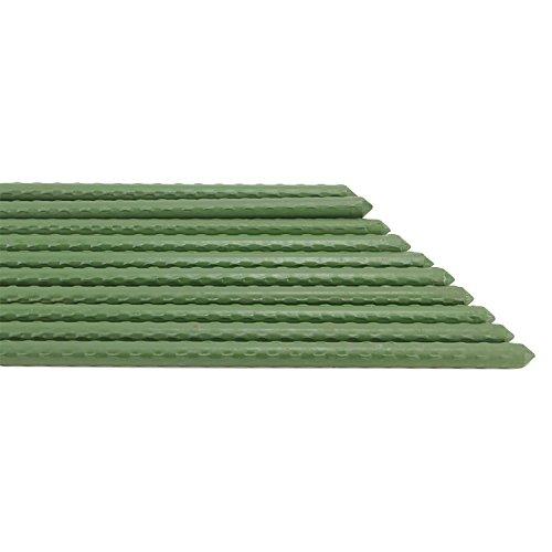 11 Flower Post Mm (rescozy 20 Pack, 0.45-Inch Diameter Bulk Green Coated Metal Heavy-Duty Sturdy Plant Stakes 2-Feet)