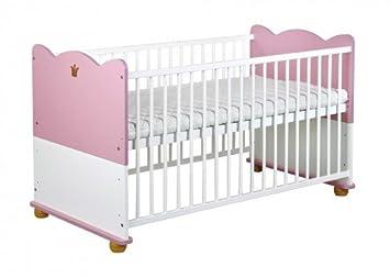 Rosa babybett gitterbett princess umbaubar 70x140 hier gibt es ein